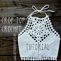 Cómo tejer un cropped top con ganchillo More [ Comment tricoter un top cropped avec crochet, Crochet Tops Archives - Page 10 of 10 - Crocheting Journal, How to Knit a Cropped Crochet Top, One day I will trust myself enough with this.Cute Crop Top: d Top Tejidos A Crochet, Débardeurs Au Crochet, Crochet Halter Tops, Crochet Bikini Top, Crochet Blouse, Love Crochet, Crochet Crafts, Crochet Stitches, Crochet Baby