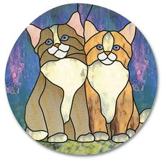 Stained Glass, Free Stained Glass Patterns, Citrus Heights Stained Glass, Rosveille, Ca, Stained Glass Northern California Cat buddies