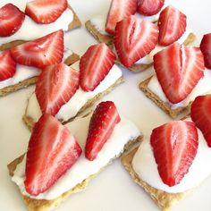 So good! Mix honey with cream cheese and spread on graham crackers then top with strawberries! Yummo!