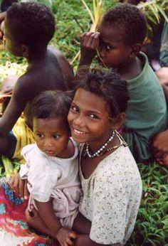 Oceania: Melanesian Children, Solomon Islands