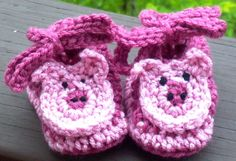 Piggy Pink Sparkle Booties Crochet Pattern by ExpertCraftss, $4.95