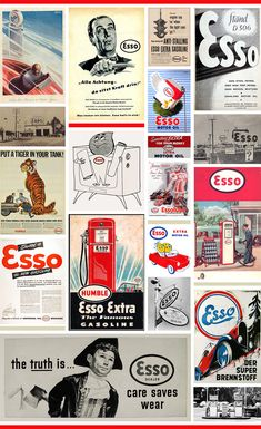 Esso Vintage Advertisements and Photographs