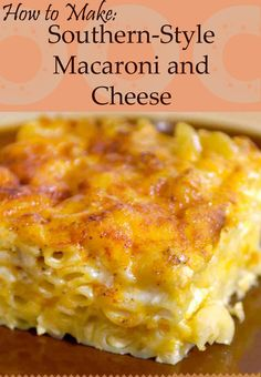 If you're looking for a homemade macaroni and cheese recipe like grandma used to make, this is it!