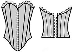 """Example models of wedding dresses and corset developed on the basis of a program calculation """"Cutter"""""""