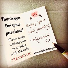"""Working on my """"Thank You"""" notes for my sale today!  I'll be at Baba's Christmas Bazaar from 10 - 2 at Lviv Hall in Oshawa.  I'm also looking forward to having yummy Ukrainian food for lunch will also be for sale!  #craftshow #craftshowprep #christmascraftshow #bazaar #thankyounotes #handwritten #holidaysarecoming #giftideas #supporthandmade #handmadejewelry #ukrainianfood #itsgoingtobeagoodday"""