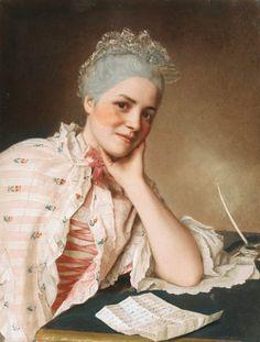 Jean-Etienne Liotard (Swiss artist, 1702-1789)  Mademoiselle Louise Jacquet