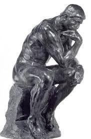 """""""El pensador""""  Autor: Auguste Rodin 1880-1900 Técnica fosa. Filosófico figurativo- impresionismo Una obra cargada de un gran simbolismo, me llama la atención muchos creen que piensa en las preguntas filosóficas de elementales y ¿porque no va a ser así?"""