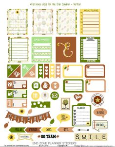 End  Zone Planner Stickers - Free printable