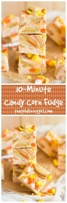 ade in the microwave with vanilla frosting, white chocolate chips, candy corn, and Candy Corn Oreo cookies, this super quick and easy fudge is a Halloween recipe for a true sweet-tooth!