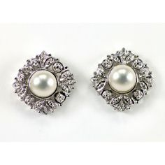 Ornate Pearl and Silver Earrings