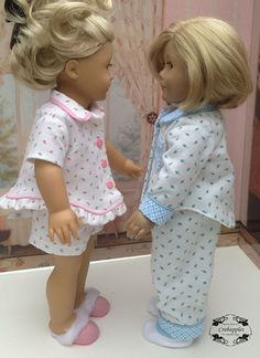 Pajama Party 18 inch Doll Clothes PDF Pattern Download   Pixie Faire