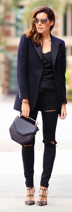 Blazer And Jeans Casual Chic Style