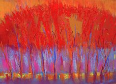 """Autumn Music by Joan Skogsberg Sanders (Pastel Painting) (20"""" x 28"""")"""