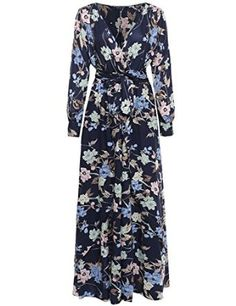 MBE Women's Plus Size Boho Chiffon Wrap Dress at Amazon Women's Clothing store: