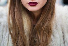 Oxblood lipstick