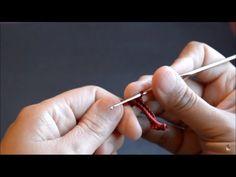 Crochet irlandés - Paso a paso cómo tejer un típico cordón bourdón. Irish lace - Padding cord - YouTube