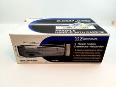 Emerson VCR for sale online Cassette Recorder, Emerson, Electronics, Box, Snare Drum, Consumer Electronics