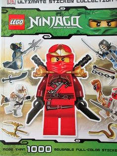 Buy LEGO Ninjago Ultimate Sticker Collection by DK at Mighty Ape NZ. Long ago, the Master of Spinjitzu created the world of Ninjago…and now, DK has created the LEGO® Ninjago Ultimate Sticker Collection! This action-pac. Lego Ninjago, Ninjago Party, Jay Ninjago, Lego City, Lego Star Wars Minifiguren, Ninjago Coloring Pages, Samurai, Lego Books, Children's Books