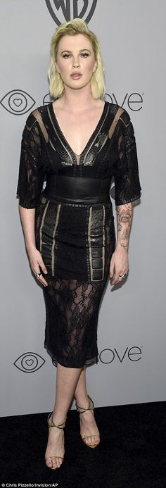 Standing out: Ireland Baldwin went edgy mixing leather and lace whileSistine Stallone shi...