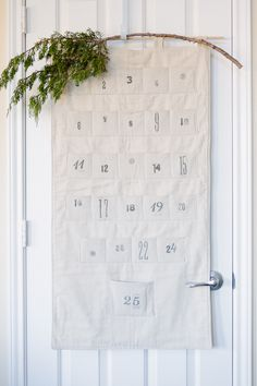 simple advent. fill pockets with notes declaring daily activities
