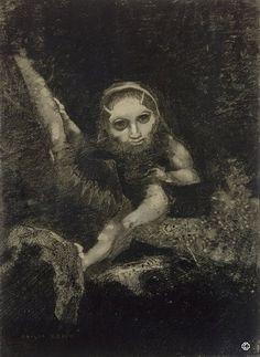 Odilon Redon (1840 – 1916) pintor simbolista francés, a caballo entre la corriente postimpresionista y el surrealismo.