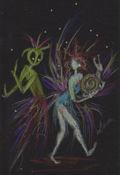 Fairies and Aliens.......1 by DawnFairies on Etsy