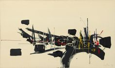 Georges Mathieu, Untitled, 1959. Oil on canvas, 38 x 63 1/2 inches (96.5 x 161.3 cm)