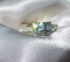Vintage+Kisses+Engagement+Ring+White+Topaz+by+InVogueJewelry,+$58.65