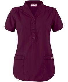Butter-Soft Scrubs by UA™ Mandarin Collar 4-Pocket Top