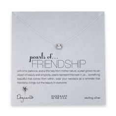 Pearls of Friendship necklace from dogeared.com preppy pretty happy