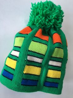 1970's 100% WooL Graphic ski hat New Vintage stock by mightyMODERN
