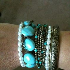 Resort and Hamilton bracelets with St. Tropez necklace to make a stunning set for arm candy!