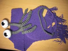Boo Hat AND Scarf Set by SillyHatsByRosie on Etsy, $46.00