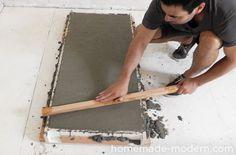 HomeMade Modern DIY EP38 Wood + Concrete Kitchen Island Step 7