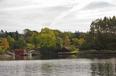 Cabins on the Lake in Sweden