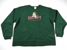 vintage disney world grumpy green crewneck sweater mens size XL  | eBay