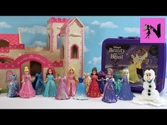 Disney Princess MagiClip Dress Up Frozen Elsa Anna Belle Fashion Set Surprise Olaf Snow Foam - YouTube