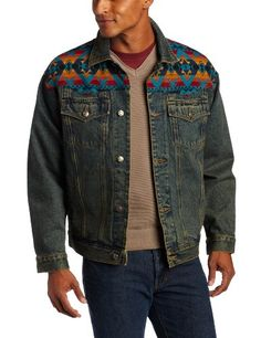 Pendleton Men's Denim Jacket with Jacquard Yoke $144.00
