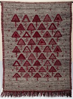 Eleonora Plutyńska, Ruby Triangles, double-warp textile, 1961, collections of the National Museum in Warsaw, Photo: Michał Korta - photo 8