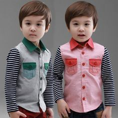 Aliexpress.com : Buy 2014 spring and autumn stripe boys clothing baby child long sleeve shirt tx 1365 on Kids Fashion Clothing - Worldwide W...