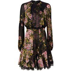 Giambattista Valli Rose Midi Dress (€3.075) ❤ liked on Polyvore featuring  dresses 6e1878fb472
