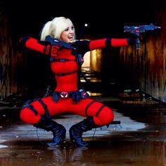 Lady Deadpool cosplay ~ Photo by jessica nigri