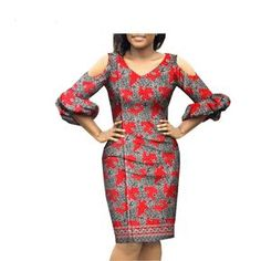 Spring new arrival casual pencil three quarter sleeve knee-length women dress 2018 spring new arrival casual pencil three quarter lantern sleeve knee-length women dress Short African Dresses, African Blouses, Latest African Fashion Dresses, African Print Fashion, Women's Fashion Dresses, African Dress Styles, Ankara Fashion, African Print Dresses, Africa Fashion