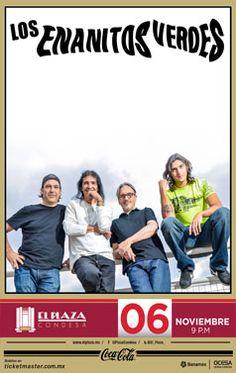 Los Enanitos Verdes - Miércoles 06 de noviembre - El Plaza Condesa, México, D.F.