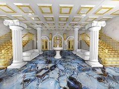 фойе театра #3dvisualization #interior