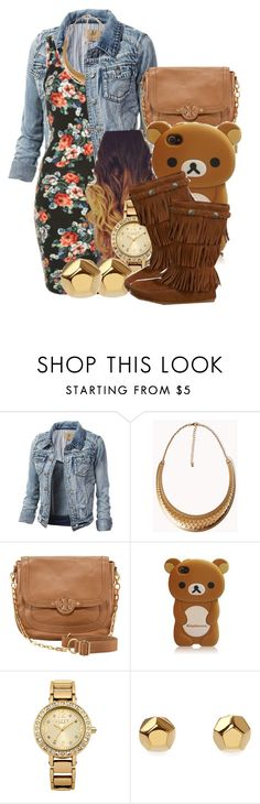 """""""And I put that on my heartbeat we'll never be apart. I'll be your light when there is darkness."""" by jamilah-rochon ❤ liked on Polyvore featuring Topshop, Forever 21, Tory Burch, Lipsy, Eddie Borgo and 77kids"""