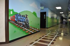 Worlds of Wow Blog: Fun Train Theme for Aldersgate UMC, College Station, TX