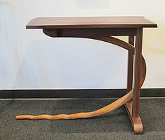 """Vintage Studio Craft Table What a wonderful table! This mid-century modern vintage studio craft table was crafted by Dane Newcomb from Claro walnut and oak. A great accent piece for a hallway. Dimensions: 31"""" tall x 25"""" deep x 26"""" wide."""