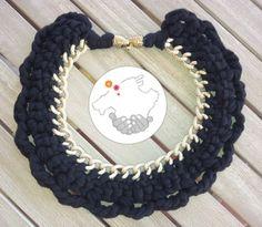 ··· Mallorca Handmade ···: Collares de trapillo: kumihimo, a mano y a crochet