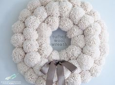 Friday Favorites for the weekend » Between You & Me - Pom-pom wreath